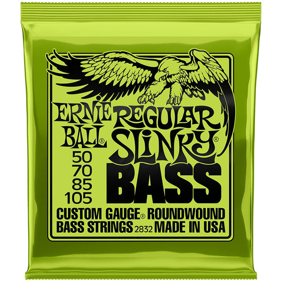 Ernie Ball 4-String Regular Slinky Bass Strings (50-105)