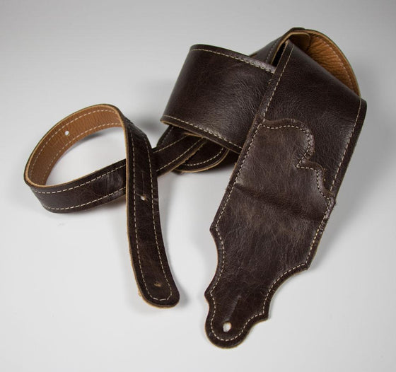 "Franklin Straps 3"" Jackson Hole Leather, Contrast Stitch Strap"