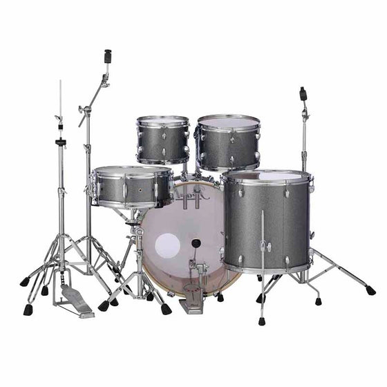 Pearl Export 5-Pc Drum Set w/ Hard Ware Grindstone Sparkle