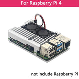 Dual fan aluminium heatsink for Raspberry Pi 4B/3B+/3B 4 Colours - FreshTek Online