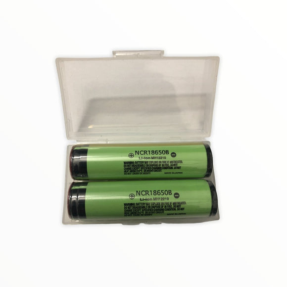 Panasonic NCR 18650B 3400mAh 3.7v Li-Ion Rechargeable battery set - FreshTek Online