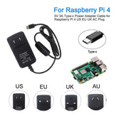 Raspberry Pi 4 Model B Type-C Power Supply 5V 3A With ON/OFF Switch EU US AU UK - FreshTek Online