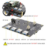 Stackable SATA storage expansion board with USB Hub for Raspberry Pi - FreshTek Online