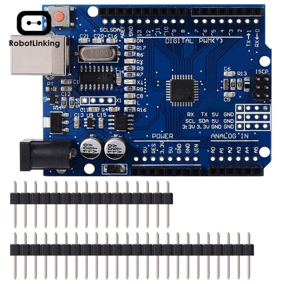 UNO R3 Arduino development board kits with straight pin header - FreshTek Online