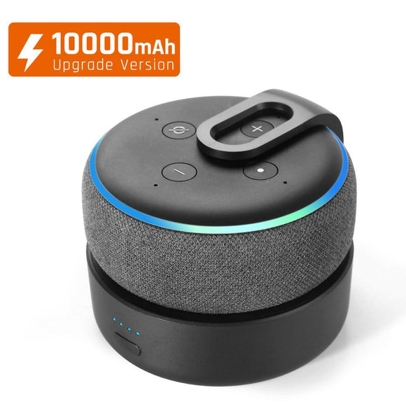 Updated D3+ 10,000 mAh Portable battery base for Echo Dot 3rd Gen - FreshTek Online