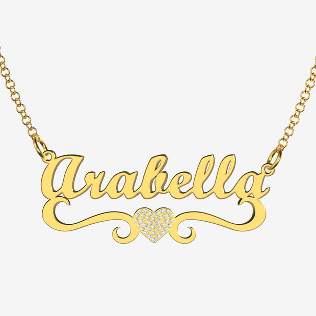 Arabella - Handmade Personalized heart Style Name Necklace