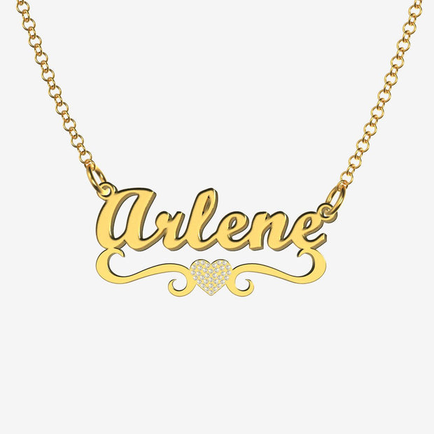 Arlene - Handmade Personalized heart Style Name Necklace