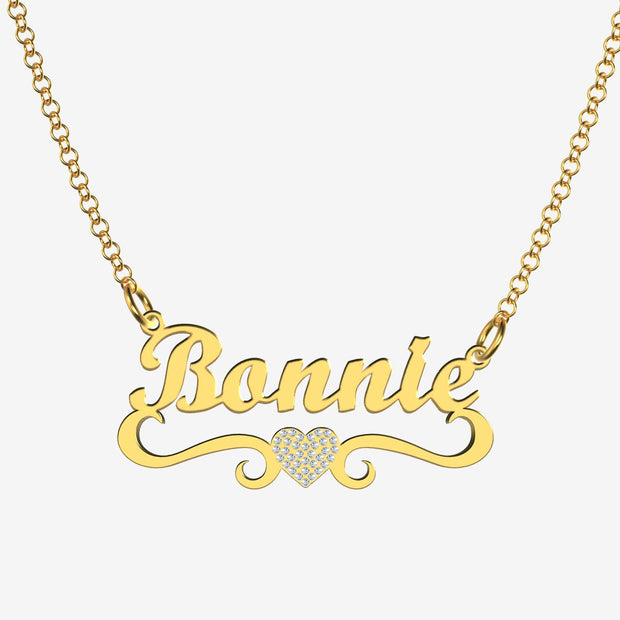 Bonnie - Handmade Personalized heart Style Name Necklace