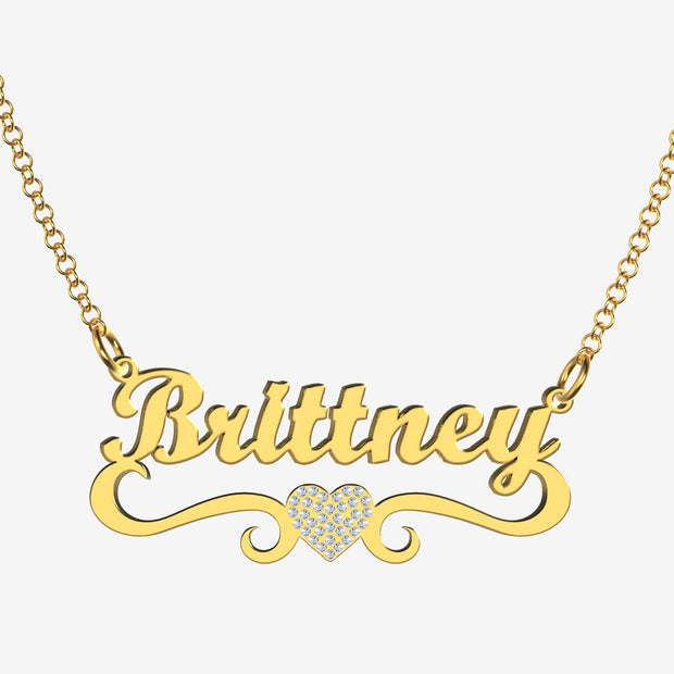 Brittney - Handmade Personalized heart Style Name Necklace