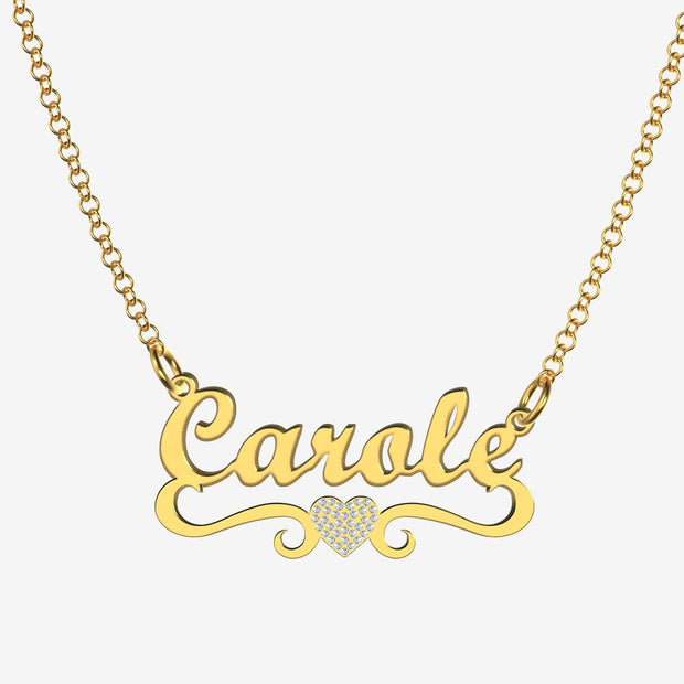 Carole - Handmade Personalized heart Style Name Necklace