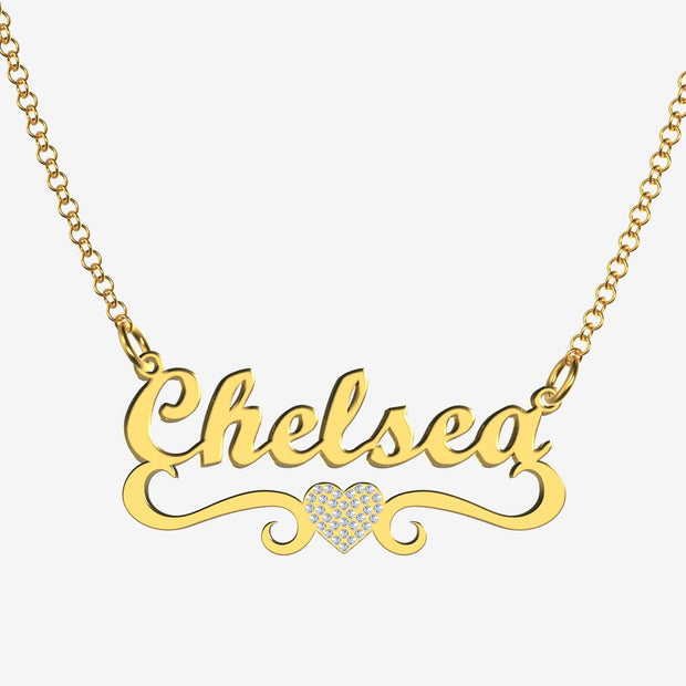 Chelsea - Handmade Personalized heart Style Name Necklace