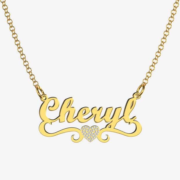 Cheryl - Handmade Personalized heart Style Name Necklace