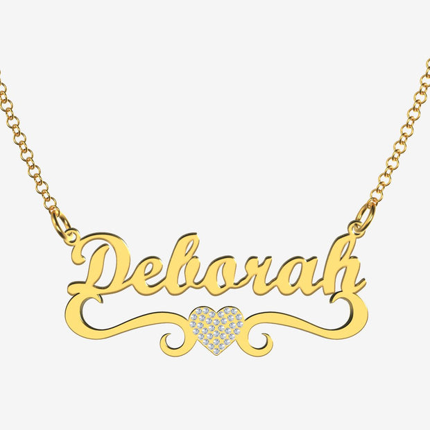 Deborah - Handmade Personalized heart Style Name Necklace