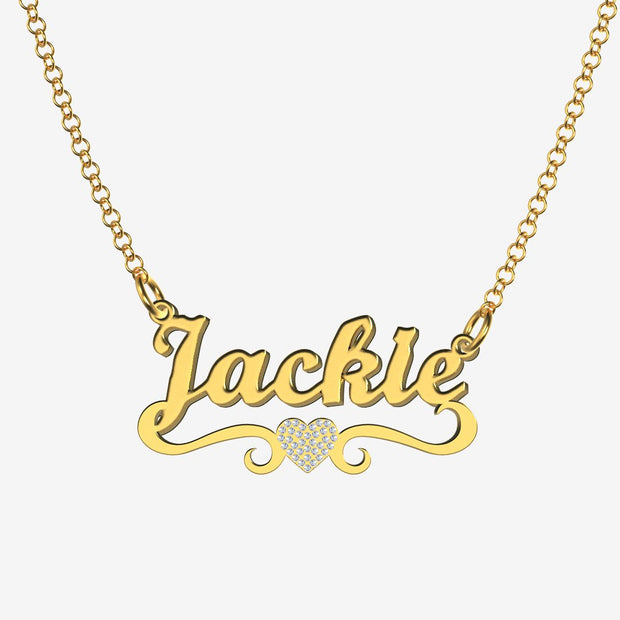Jackie - Handmade Personalized heart Style Name Necklace