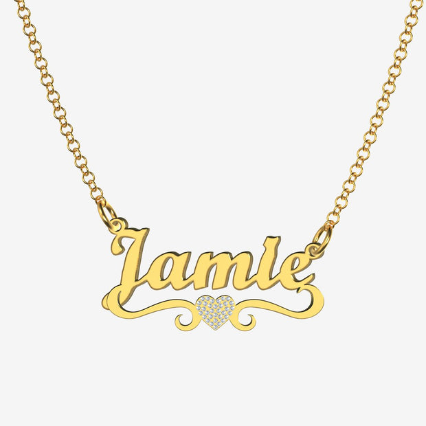 Jamie - Handmade Personalized heart Style Name Necklace