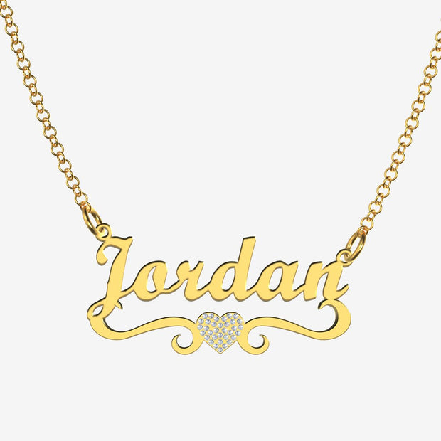 Jordan - Handmade Personalized heart Style Name Necklace