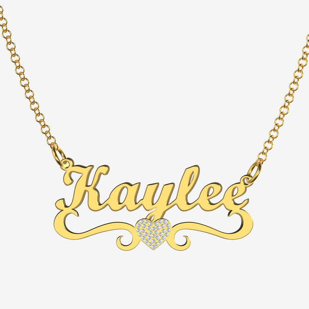 Kaylee - Handmade Personalized heart Style Name Necklace