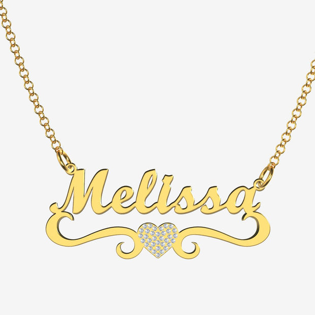 Melissa - Handmade Personalized heart Style Name Necklace