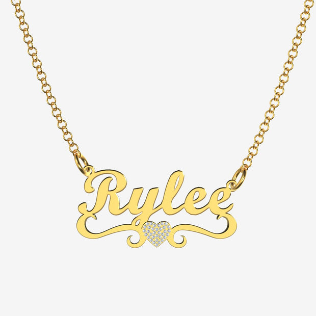 Rylee - Handmade Personalized heart Style Name Necklace