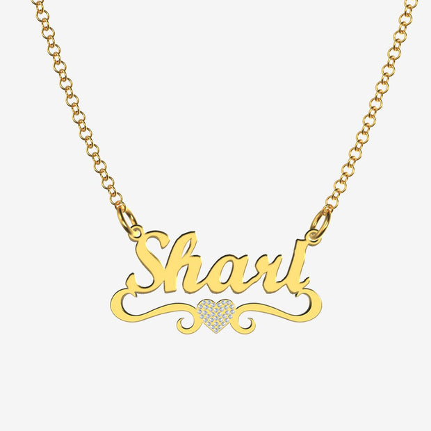 Shari - Handmade Personalized heart Style Name Necklace