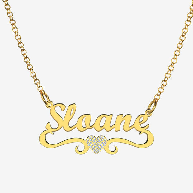 Sloane - Handmade Personalized heart Style Name Necklace