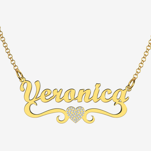 Veronica - Handmade Personalized heart Style Name Necklace