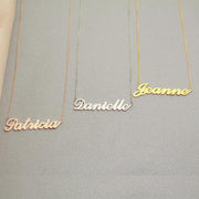 Aubrey - Handmade Personalized Handwriting Style Name Necklace