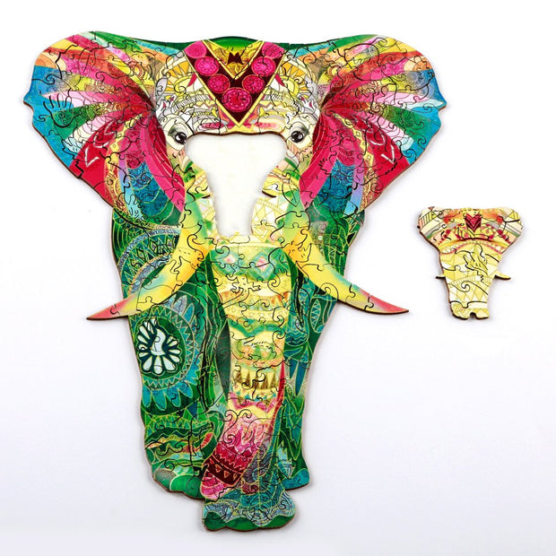 colorful Elephant Wooden Puzzle