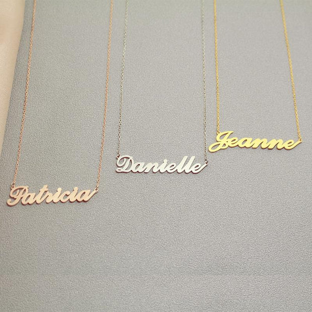 Vicky - Handmade Personalized Handwriting Style Name Necklace