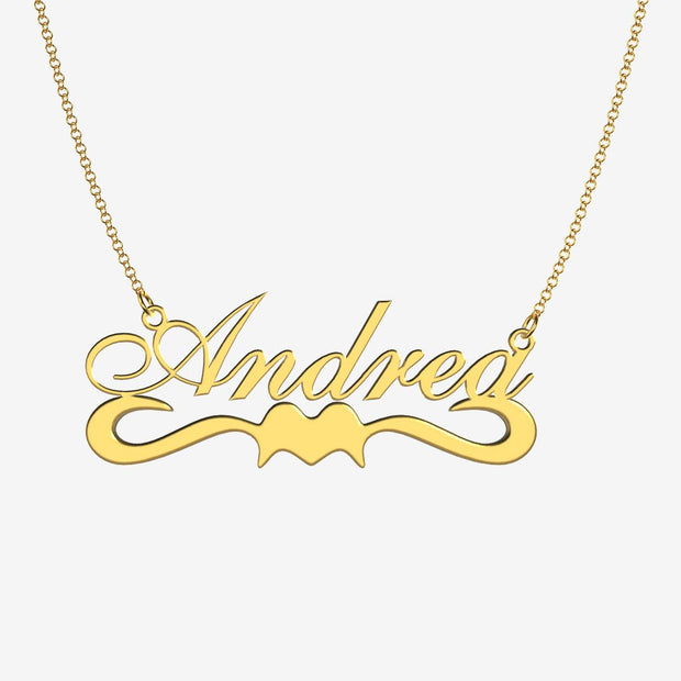 Andrea - Handmade Personalized Ribbon Style Name Necklace