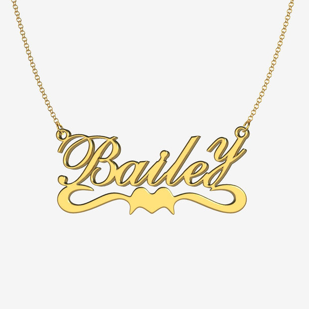 Bailey - Handmade Personalized Ribbon Style Name Necklace