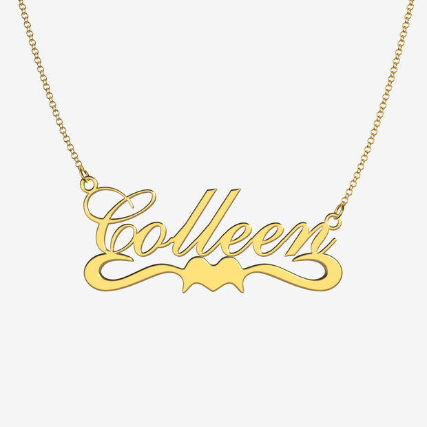 Colleen - Handmade Personalized Ribbon Style Name Necklace