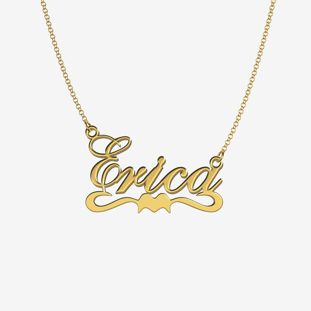 Erica - Handmade Personalized Ribbon Style Name Necklace