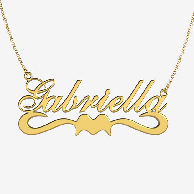 Gabriella - Handmade Personalized Ribbon Style Name Necklace