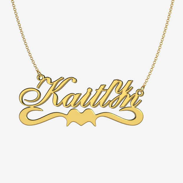 Kaitlyn - Handmade Personalized Ribbon Style Name Necklace
