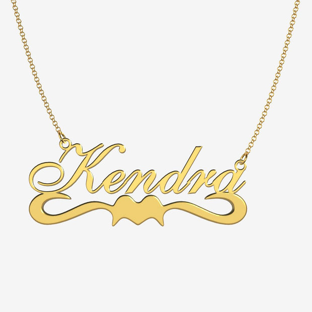 Kendra - Handmade Personalized Ribbon Style Name Necklace