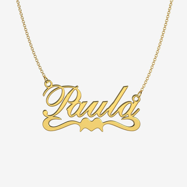 Paula - Handmade Personalized Ribbon Style Name Necklace