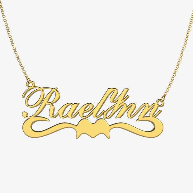Raelynn - Handmade Personalized Ribbon Style Name Necklace