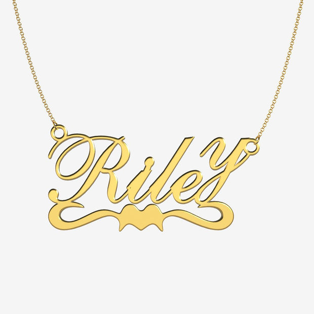 Riley - Handmade Personalized Ribbon Style Name Necklace