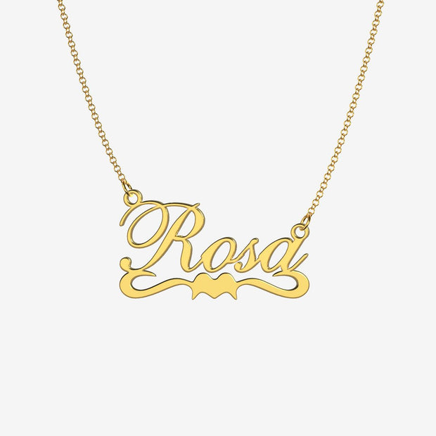 Rosa - Handmade Personalized Ribbon Style Name Necklace