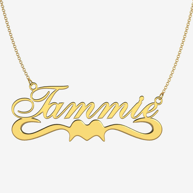 Tammie - Handmade Personalized Ribbon Style Name Necklace