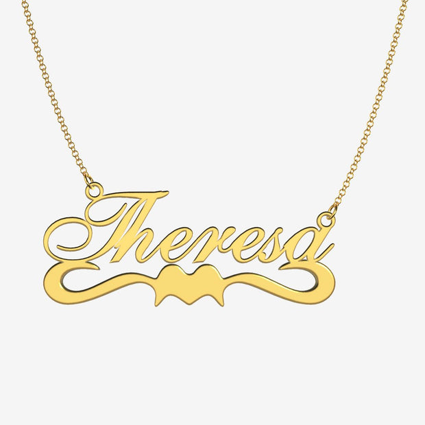 Theresa - Handmade Personalized Ribbon Style Name Necklace