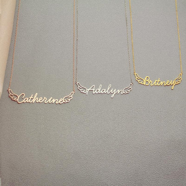 Lucia - Handmade Personalized Littlewings Style Name Necklace