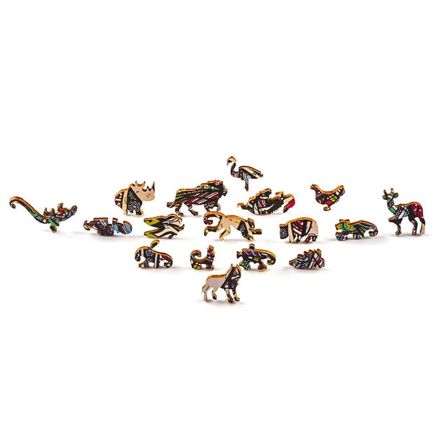 Noble Elephant wooden puzzle