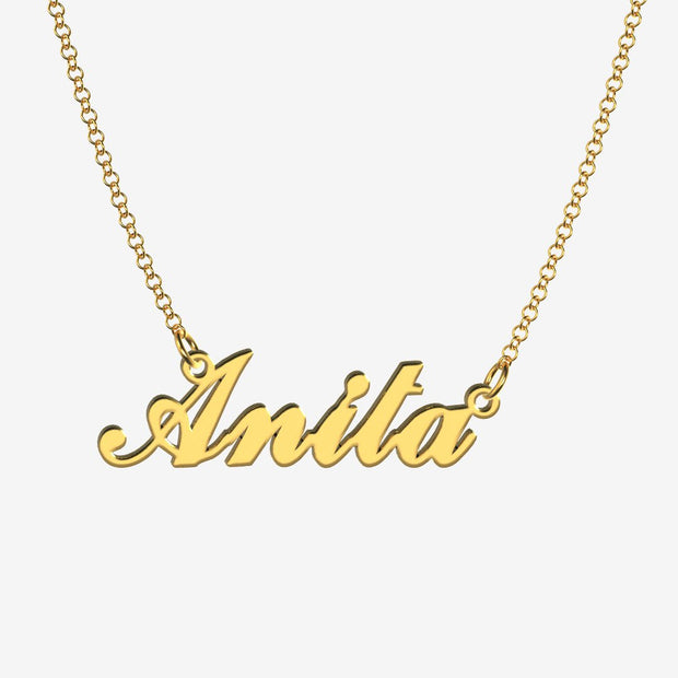 Anita - Handmade Personalized Handwriting Style Name Necklace