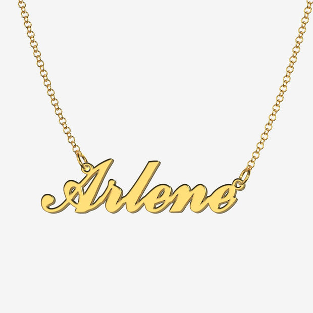 Arlene - Handmade Personalized Handwriting Style Name Necklace