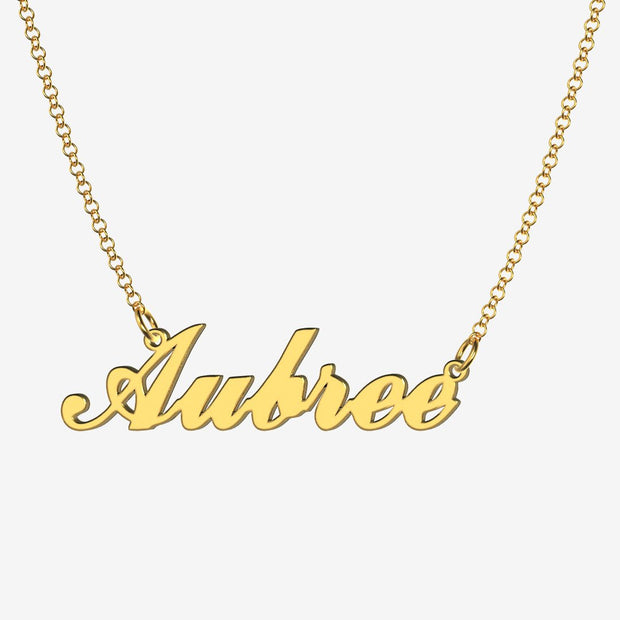 Aubree - Handmade Personalized Handwriting Style Name Necklace