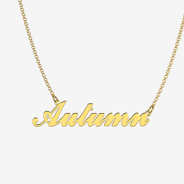 Autumn - Handmade Personalized Handwriting Style Name Necklace