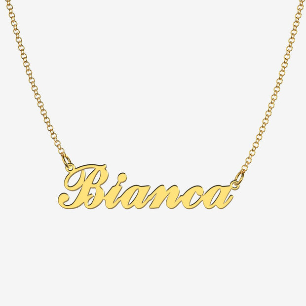 Bianca - Handmade Personalized Handwriting Style Name Necklace