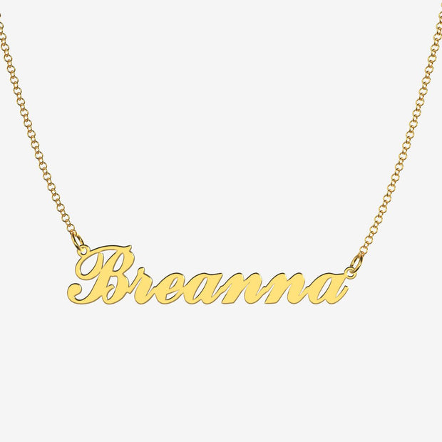 Breanna - Handmade Personalized Handwriting Style Name Necklace
